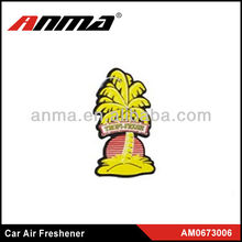 Yellow OEM hanging automatic custom car crown air freshener last long time fragrance
