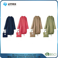 newest design high quality transparent long pvc raincoat