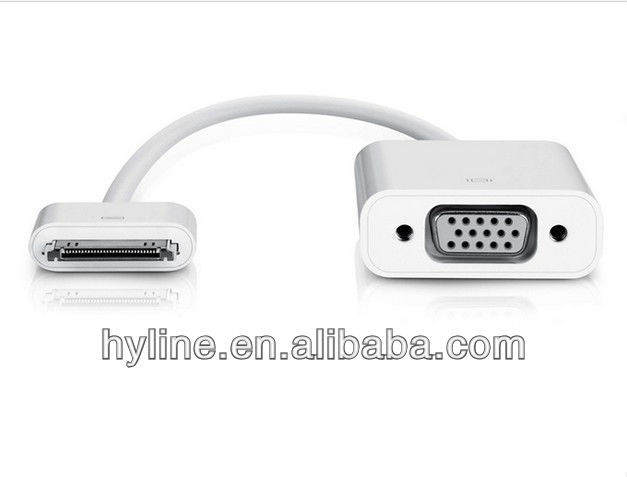 for ipad to VGA cable for 30pin to VGA converter cables,Vga Converter For Tablet Pc