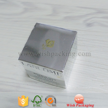 Matte or glossy silver Aluminum Foil paperboard perfume box/ Cosmetics Paper Box