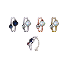 unique shape bottom belly rings with opal good quality navel piercing jewelry