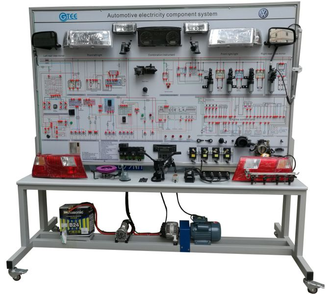 Automotive electrical system trainer whole car electrical appliances trainer training kits engineering educational equipment