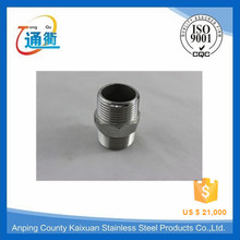 made in china double casting male threaded ss316 hex nipple