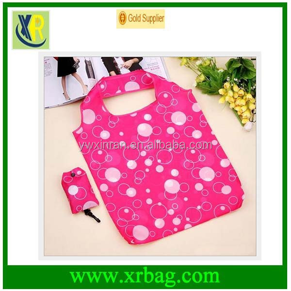 promotional Eco shaped folding 190T/210D polyester shopping bag