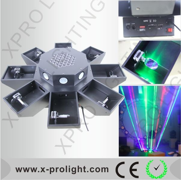 Supper brightness laser light Amazing octopus laser led 36x3W led light eight claw laser