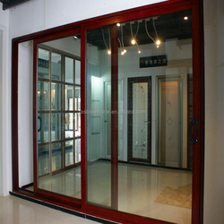 10mm tempered glass aluminium fire rated sliding doors