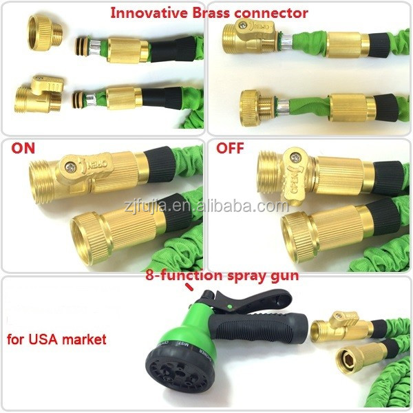 Best Solid Expandable Hose With Brass Fitting 8 Spray gun Garden Water Hose As Seen on Tv 2016 Hose