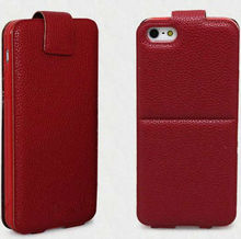 Brand new phone case hot selling flip leather cover with exquisite workmanship up down folio deisgn cover for iphone 5