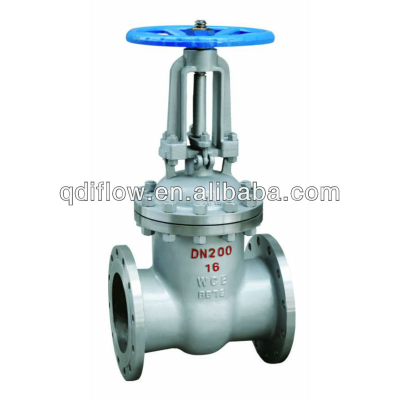 DIN WCB gate valve with rising stem