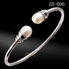 925 Sterling Rhodium Plated Adjustable Bangle