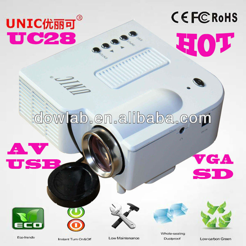 Hottest!!!UC28 lcd promotion pocket data projector