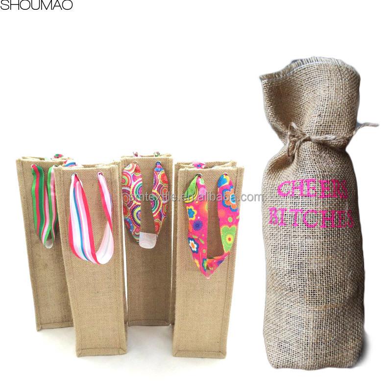 for gift custom burlap wine bags wholesale buy burlap