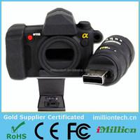 Custom 3D camera shaped promotional gift pvc rubber usb sticks usb flash drive