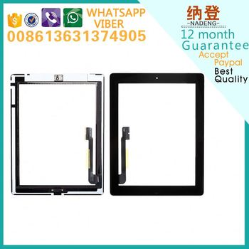 Accept paypal replacement touch parts for ipad 3 screen digitizer assembly ship by DHL