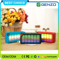 China supplier shenzhen factory portable wireless bluetooth speaker with led light