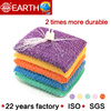 5pcs mesh bag package Free Sample Kitchen Dish Cleaning scourer Sponge