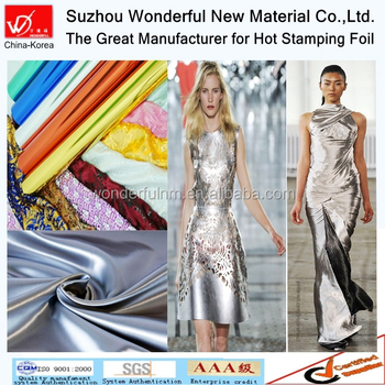Lady Washable Metallic Hot Stamping Foil For Garments