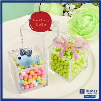 Nontoxic Plastic Nut Container Custom Mini Child Acrylic Wedding Candy Box With Lip