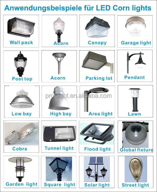 IP64 E40 360 degree smd led corn bulb 80w