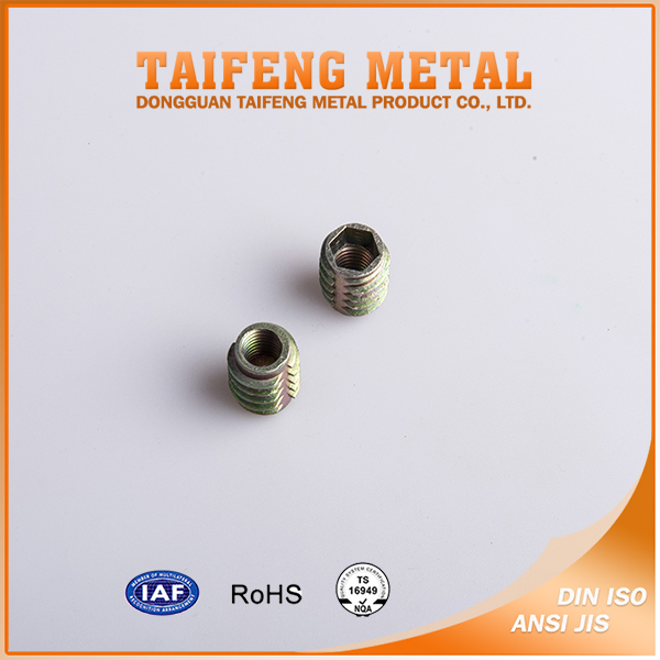 zinc alloy wooden insert nut of m4 m6 m8