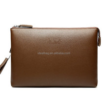 Euro america brand leather business envelop clutch bag for man wrist clutch