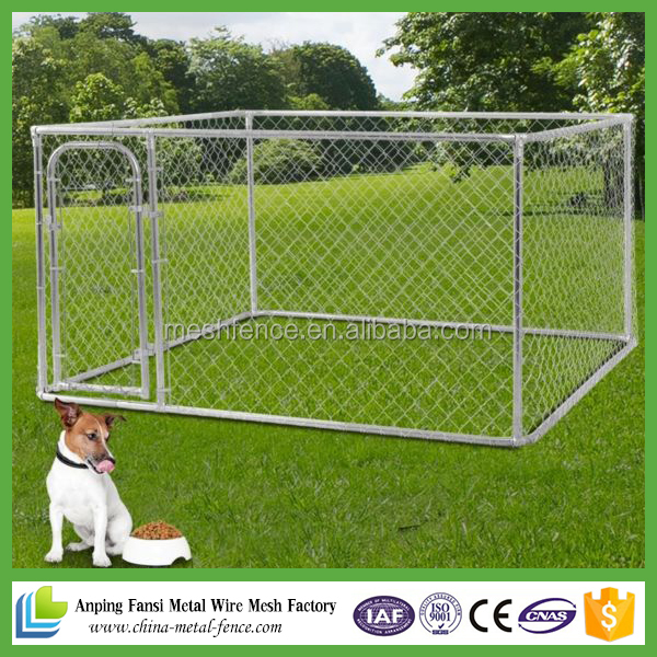 Alibaba hot dip galvanized chain link style 6ft dog kennel cage