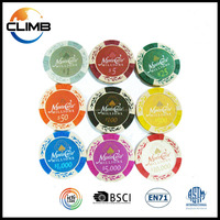 Best Selling 14g Monte Carlo 2016 new design Customized design ceramic clay poker chips/casino poker chips