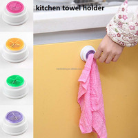 home kitchen gadget dishcloth clip self adhesive holder sink tub plastic towel hook holder rack