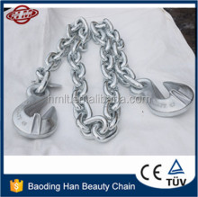 Top Quality G80 Galvanized Chain with eye Grab Hooks on Both End