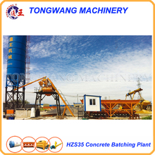 small HZS35 concrete batching station