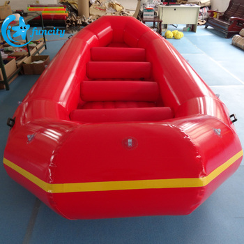 Customized 4.9m EN15649 5 Person Seashore Water Toys Inflatable Rafting Boat For Sale