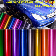 New fashion high glossy candy colored car wrap chrome metallic film
