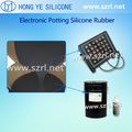 Two part liquid silicone rubber for electronic transformer potting