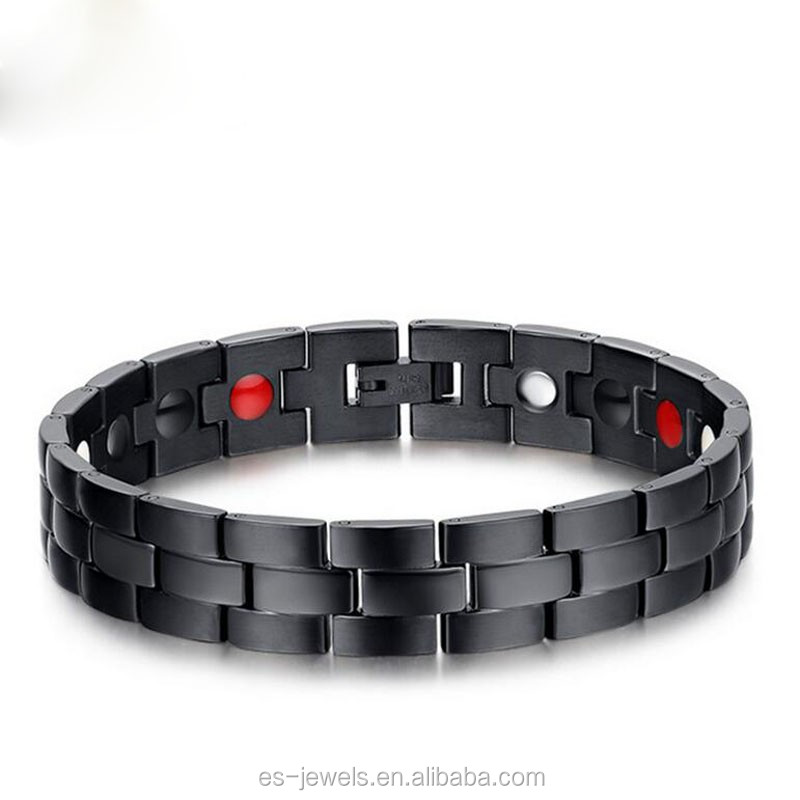 NEW Energy Power Health-care Stainless Steel BRACELET With Negtaive Ion, Magnet, Far Infrared And Germanium