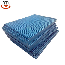 Chemical resistant garage floor channel frp grating for security