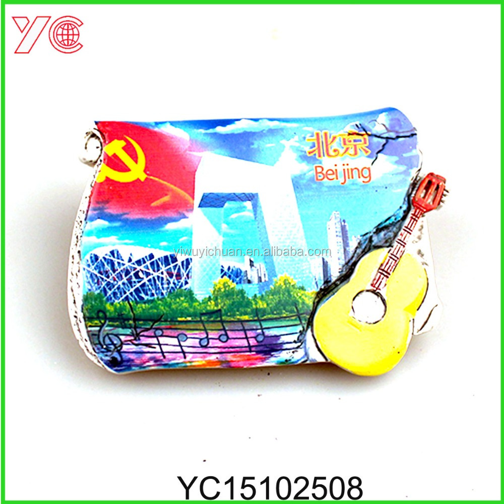 YC15102508 Resin Custom Shanghai Souvenir Fridge Magnets Made In China