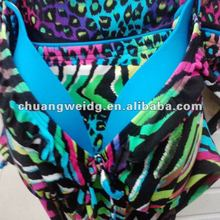 comfortable polyester spandex flower printed swimsuit fabric