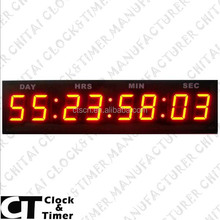 8 Digits LED Programmable Days Hours Minutes Seconds Countdown Timer