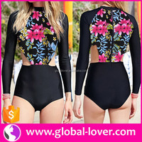 Women Long Sleeve Swimsuit 2016 Surfing Suits Wholesale Rash Guard