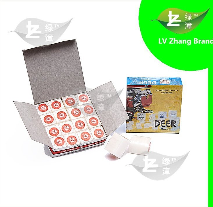 High Quality Deer Brand 1/8OZ 96% Pure Camphor Tablets/Blocks