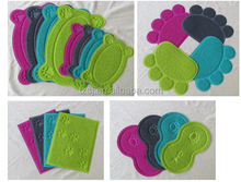 paw print litter mat for cats/fashion design for pets/pet place mat