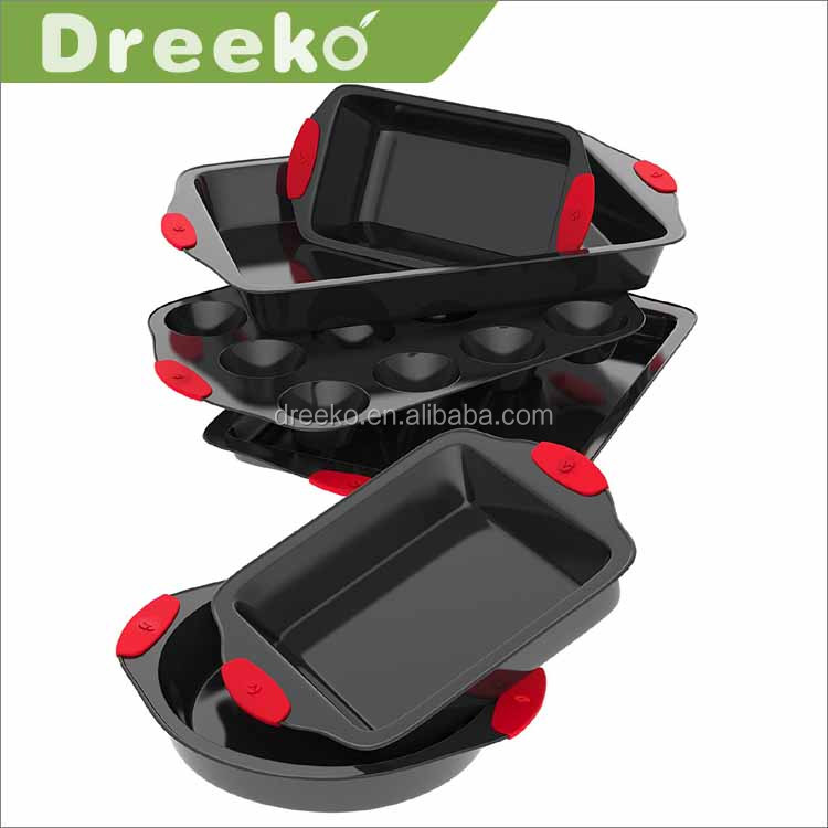 Hot sale 6 piece High quality die cast non-stick aluminum bakeware set