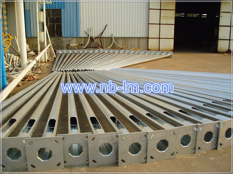 hot dip galvanized steel street lighting pole 3-12m factory direct wholesale price