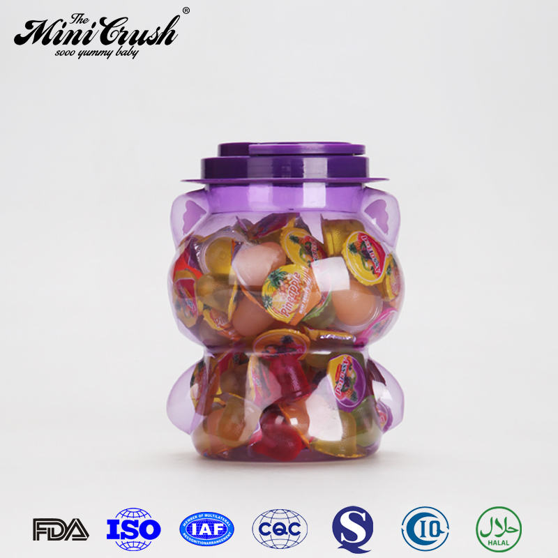Healthy Snack small candy toy purple koala jar fruit jelly