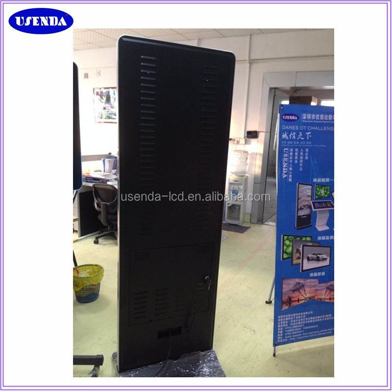 USENDA factory direct sell 43 46 47 50 55 65 inch super slim screen all in one touch floor stand lcd ad/advertising display