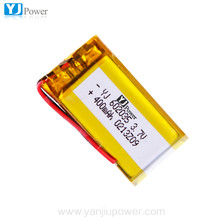 370mAh Lithium Polymer/ Digital Mp3 Battery 602035 / Lipo Rechargeable Mp3 Battery 602035