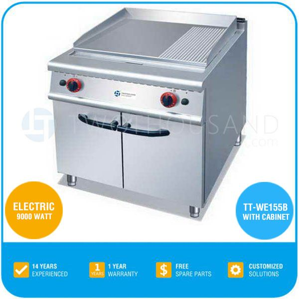 2017 Good Quality Commercial Gas Grill Griddle For Sale - With Cabinet, 9000 Watt, 380V/50Hz, TT-WE155B