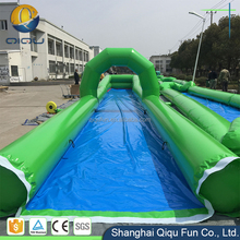2017 crazy fun super single 300m inflatable slide the world's longest water large slip and slide for adult