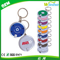 Winho imprint logo round led key chain