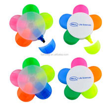 Novelty 5 in 1 multi colored highlighter pen for students award